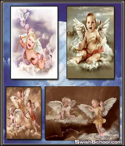 خلفيات اطفال وفيكتور  كيوبيد الحب عاليه الجوده للتصميم  cupid and angels