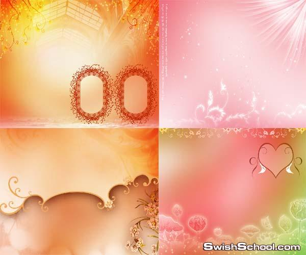ملفات مفتوحه لخلفيات بالوان رومانسيه psd متعدده الليرات