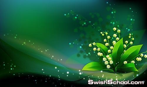 ملفات مفتوحه زهور الربيع  وخلفيات زجاجيه psd