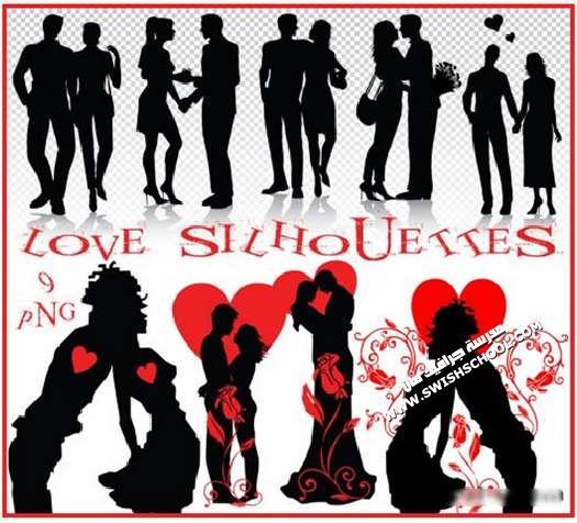 كليب ارت silhouettes  في لحظات رومانسيه