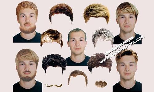 باروكات الشعر المستعار- باروكة - بواريك للتصميم - حريمي ورجالي png - psd