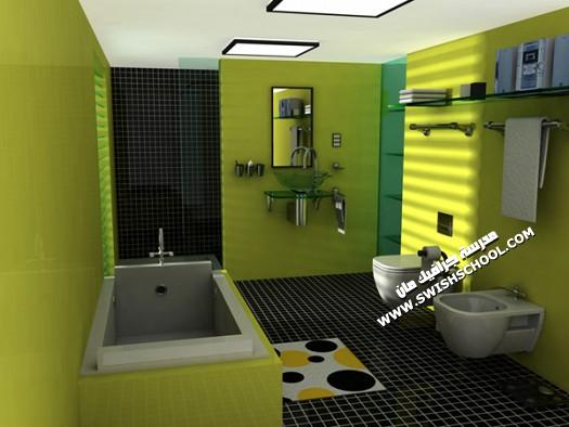 ديكورات حمامات 2012