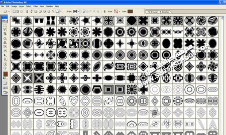 اضخم مجموعة اشكال فوتوشوب وبرابط واحد ، تهم كل مصمم : عدد 120.000 شكل برابط واحد وملفات متعددة