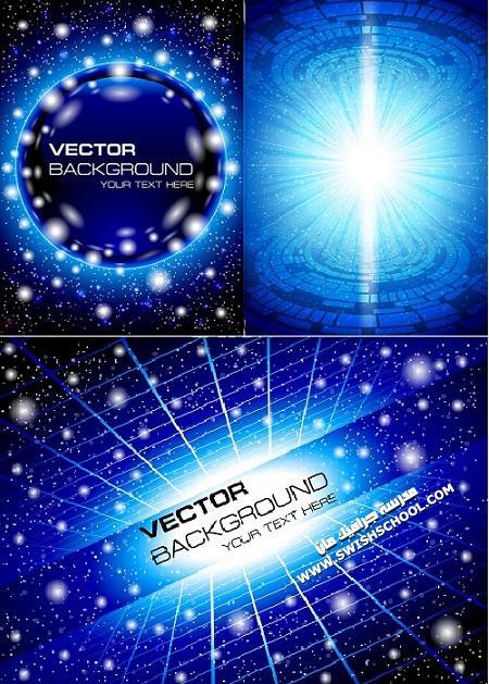 خلفيات فيكتور مضيئه Shining backgrounds vector