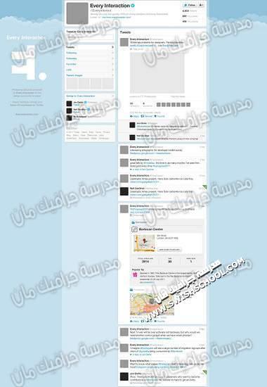 ملفات مفتوحه لصفحات تويتر
