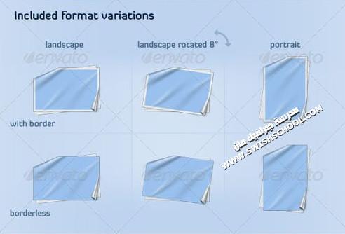ملف مفتوح متعدد الليرات لعمل فريمات على شكل ورقه مطويه