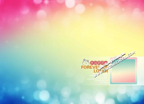 البوم خلفيات حب رومانسي بالوان زاهيه  متعدد الليرات وقابل للتعديل psd 2013