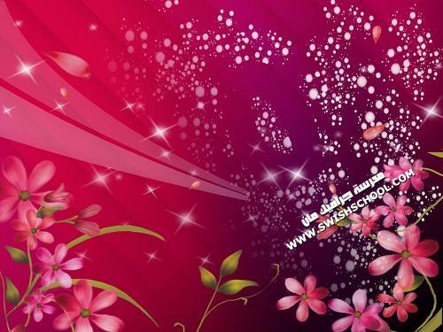 جديد ملف  psd باللون الأحمر والزهور