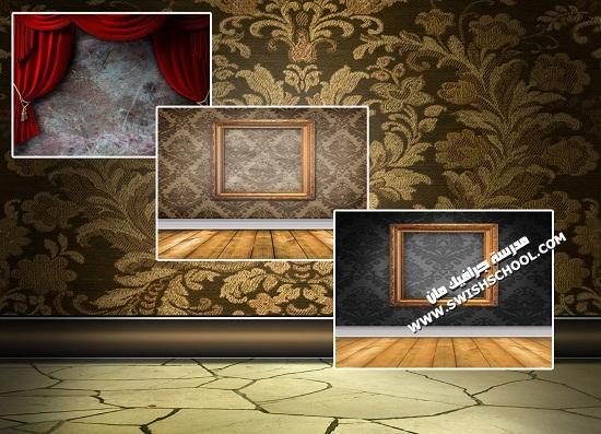 خلفيات انتريهات ومجالس وديكورات داخليه وستائر مسرح  عاليه الجوده للاستديوهات والتصميم 2013