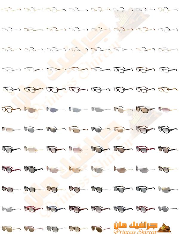 اكبر كولكشن نظارات شمسية وطبية png عالية الجودة للدعاية والاعلان حصرى على مدرسة جرافيك مان