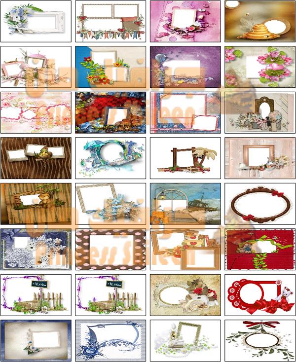 كولكشن فريمات لكل المناسبات , براويز الزواج والخطوبة واعياد الميلاد 2015 حصرى على مدرسة جرافيك مان الجزء 6