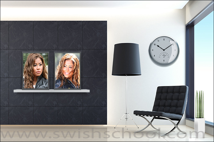 موك اب معرض صور , psd mockup , موك اب احترافى لعرض الصور على لوحات فنية جدارية جديد 2015
