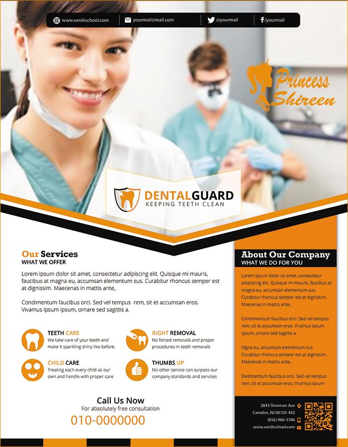 3فلايرات عيادة طبيب اسنان , فلاير طبيب اسنان للتعدل عليه , psd flyer , ملفات مفتوحة للدعاية والاعلان جديد