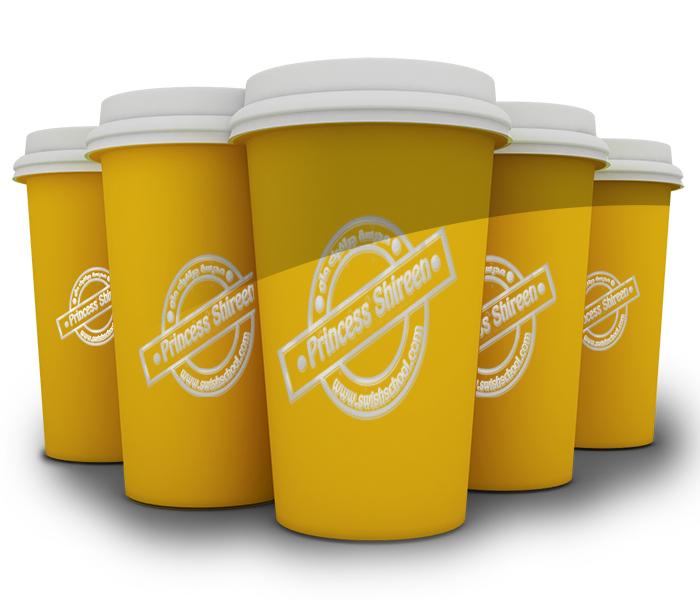 موك اب عرض اللوجوهات على أكواب القهوة  psd mockup , ملفات مفتوحة للدعاية والاعلان جديدة 2015