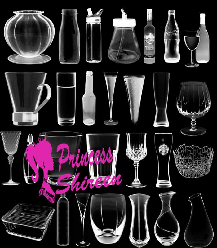 فرش اكواب زجاجية , فرش زجاجات , فرش كاسات زجاج جديده 2015