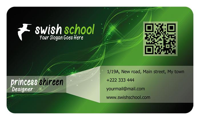 كارت بيزنس اخضر شيك مفتوح للتعديل عليه , psd card ملفات مفتوحة للدعاية والاعلان