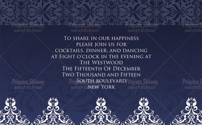 مجموعه كروت دعوات الزفاف psd للتعديل عليها , كروت زفاف cmyk عالية الجودة جاهزة للطباعة الجزء الثالث