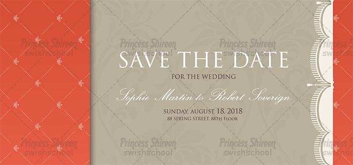 مجموعه كروت دعوات الزفاف psd للتعديل عليها , كروت زفاف cmyk عالية الجودة جاهزة للطباعة الجزء السادس