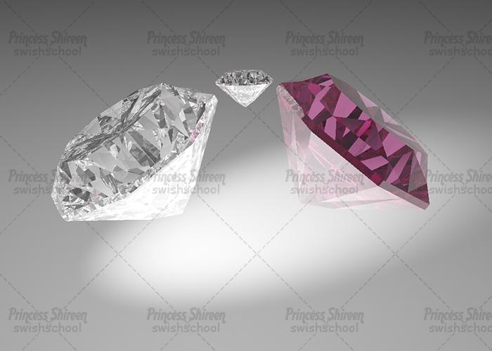 موديل الماس للسينما فور دى , موديلات الماظ رائعه لبرنامج c4d مدرسة جرافيك مان