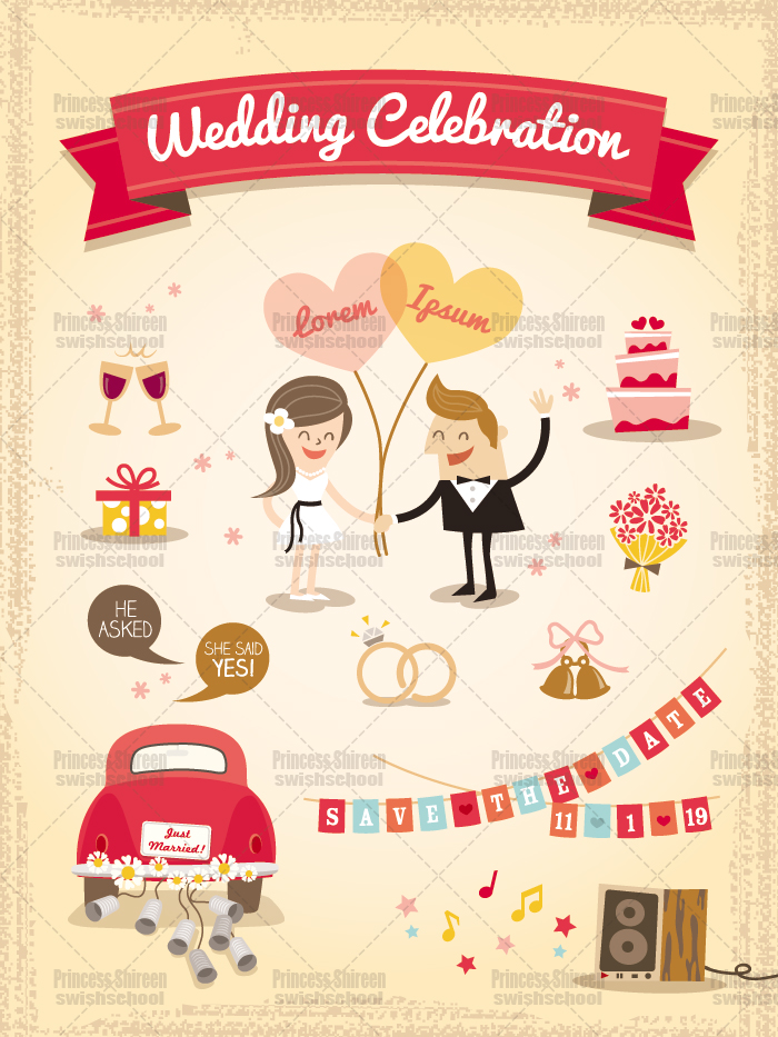 فيكتور كارت دعوة زفاف eps , كارت دعوة زفاف cmyk مدرسة جرافيك مان