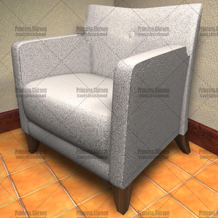 موديل كرسى انترية فى غرفة للسينما فور دى مدرسة جرافيك مان