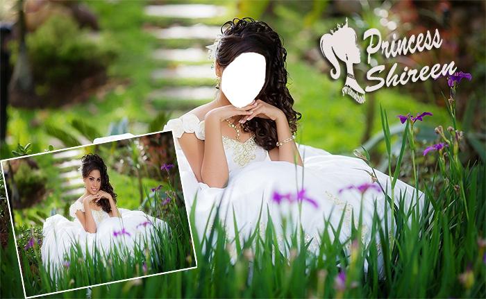 قالب تركيب وجه عروسة فى الطبيعه الخضراء عالى الجودة لاصحاب الاستوديوهات مدرسة جرافيك مان