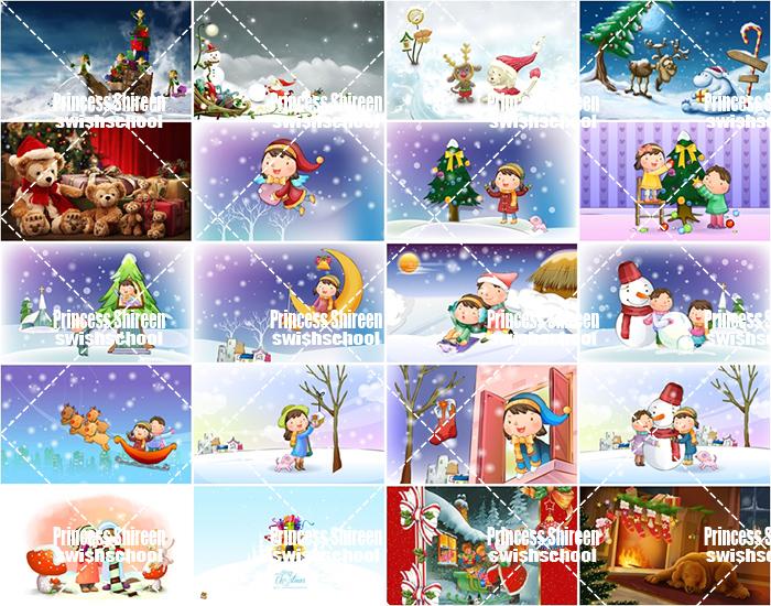 كولكشن خلفيات اطفال للكريسماس والعام الجديد عالية الجودة للتصاميم وسطح المكتب 2 مدرسة جرافيك مان