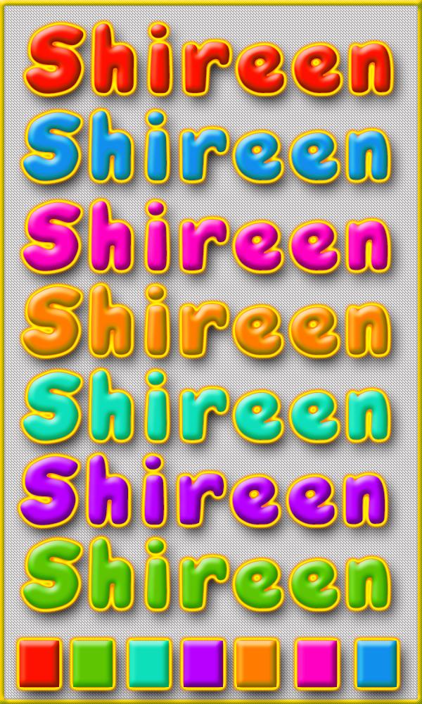 7 ستايلات فوتوشوب بألوان رائعه من تصميم Princess Shireen خاص لمدرسة جرافيك مان