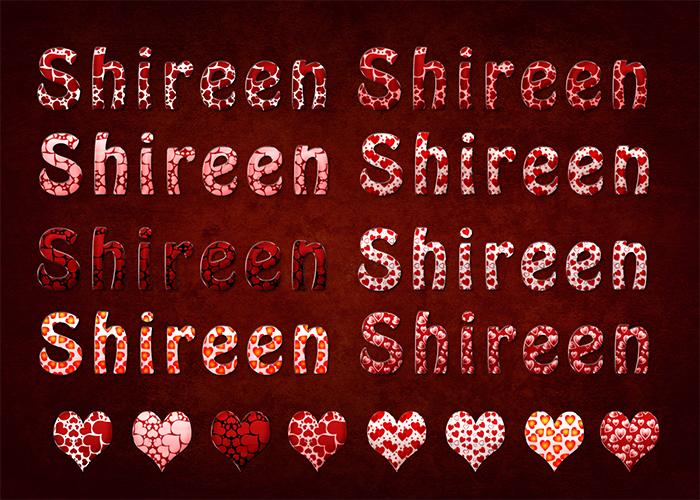8 ستايلات فوتوشوب قلوب حمراء رائعه من تصميم Princess Shireen خاص لمدرسة جرافيك مان
