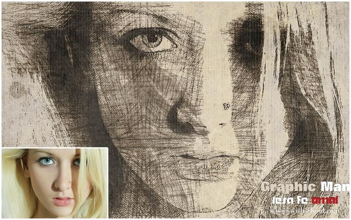 اكشن تحويل الصورة لرسم بالقلم الرصاص