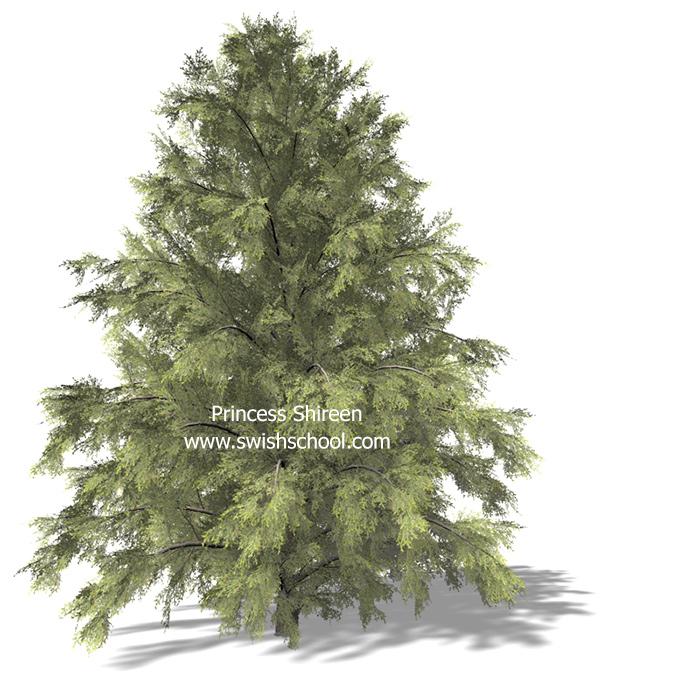 3موديلات اشجار خضراء للسينما فور دى الجزء التالت مدرسة جرافيك مان