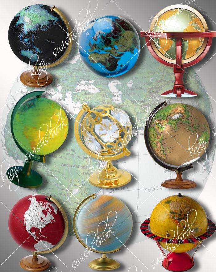 كرة ارضيه باشكال رائعه ومميزه وبجوده عاليه دون خلفيه القسم الثاني