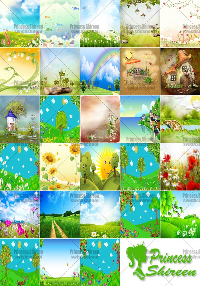 كولكشن خلفيات استوديوهات عالية الجودة للأطفال بصيغة jpg , أحدث خلفيات أطفال متنوعه جديدة 2015 مدرسة جرافيك مان