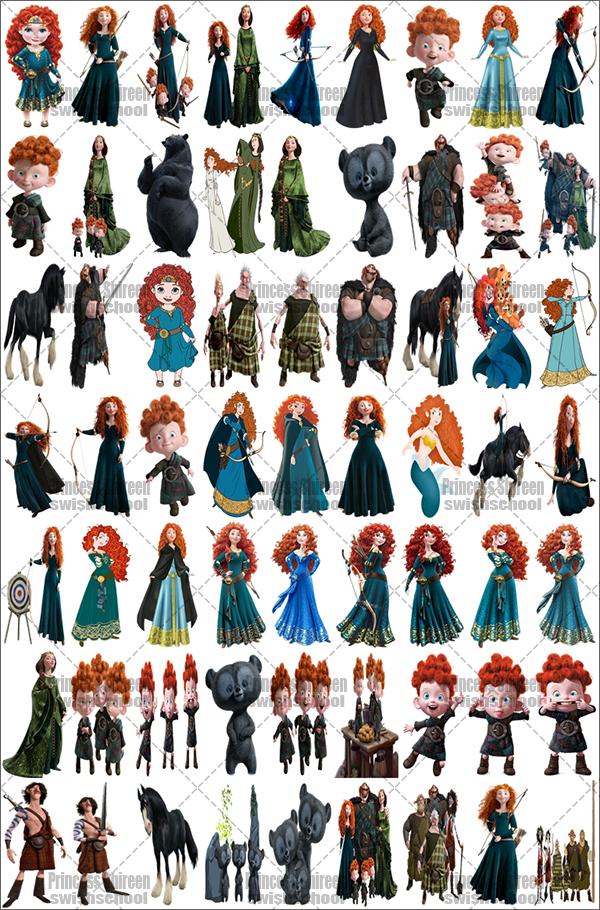 سكرابز شخصيات فيلم Brave تجميع Princess Shireen , سكرابز أشهر الشخصيات الكرتونية العالمية جديد 2016