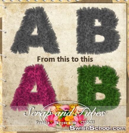 حروف الفرو للبنوتات , بنات , صبايا , حروف , احرف , حروف انجليزيه ,سكرابز