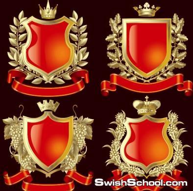 اوسمه وشعارات ملكيه للمنتديات , اوسمة , وسام , ملكيه , احمر , حمراء , فيكتور