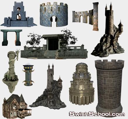 كوليكشن القلاع والحصون الصخريه لتصاميم الفانتازيا , حصون , قلاع , حصون , صخور , صور مقصوصه , صور عاليه الجوده