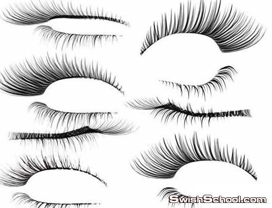 سكرابز الرموش , رموش , عيون , رمش , تركيب رموش بالفوتوشوب , زيادة كثافة الرموش