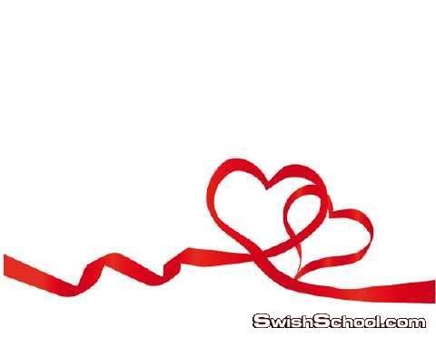 شرايط فيكتور لتزيين التصاميم , فيكتور , شريطه , شرايط , احمر , شرايط فالنتاين , هدايا , قلوب