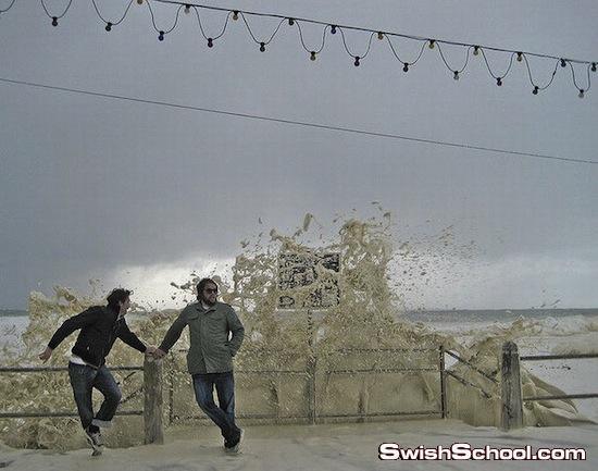 زبد البحر كرغوة الكابتشينو - ظاهره طبيعيه نادره