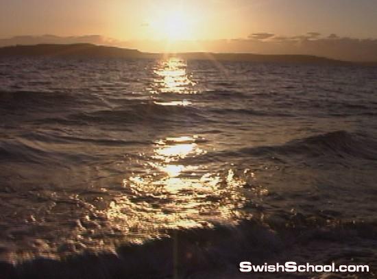 خلفيات فيديو غروب الشمس على البحر , خلفيات غروب , فيديو , فيديوهات , فوتاج