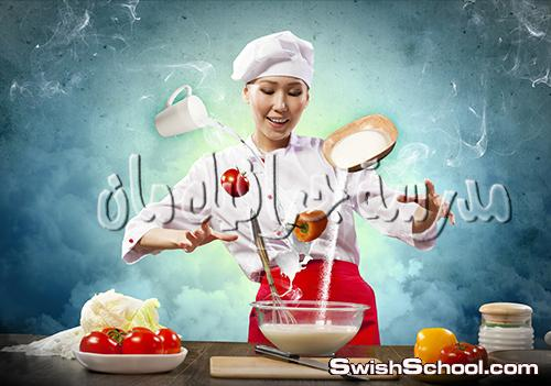 ستوك فوتو طباخه في مطبخ - صور للدعايه والاعلان عاليه الجوده 2013