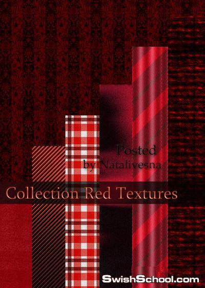 خامات رائعة باللون الأحمر لتصاميم الفوتوشوب 2013