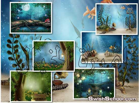 خلفيات اعماق البحار وحدائق رائعه للاطفال , خلفيات اطفال , اعماق البحار , حدائق , خلفيات طبيعيه
