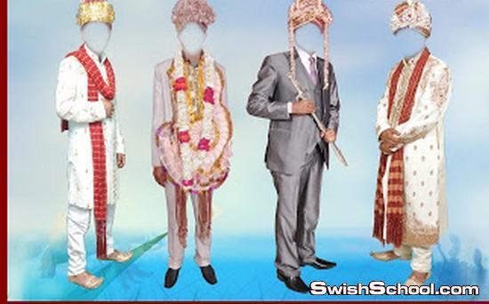 قوالب تركيب عرسان هنديه , عرسان هنود , ملابس هنديه تقليديه , ملابس رجاليه , بدل رجاليه
