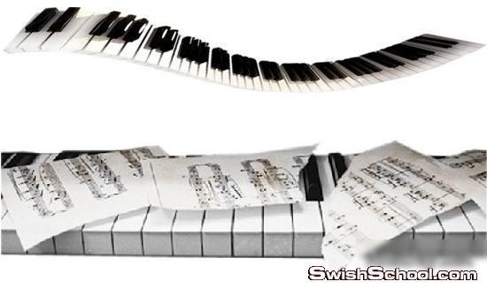اكثر من 70 صوره مقصوصه بيانو ونوتات موسيقيه , نوتات موسيقيه , بيانو
