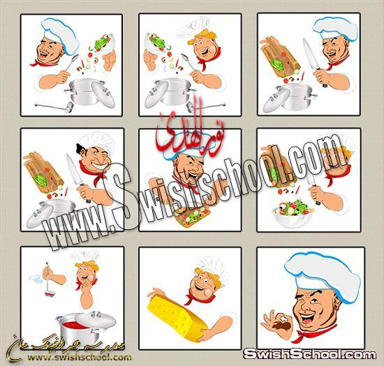فيكتور جرافيك شيف طباخ في مطعم , فيكتور للدعايه والاعلان 2013