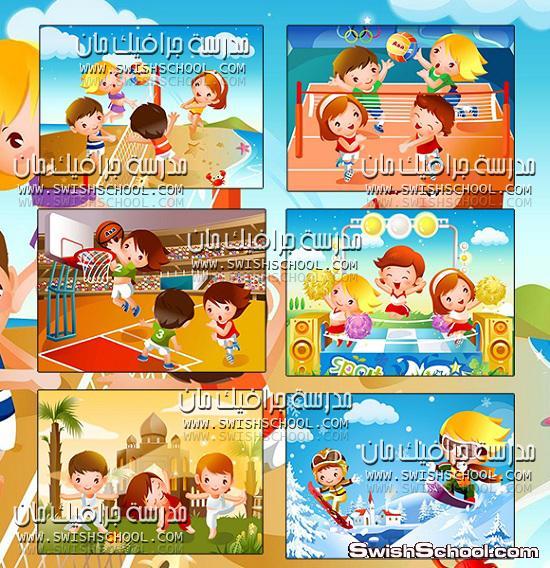 خلفيات جرافيك رسومات اطفال للمدارس ولتصاميم الاطفال