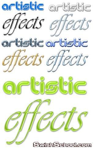 فلتر فوتوشوب Artistic Effects لعمل تأثيرات على الصور والنصوص