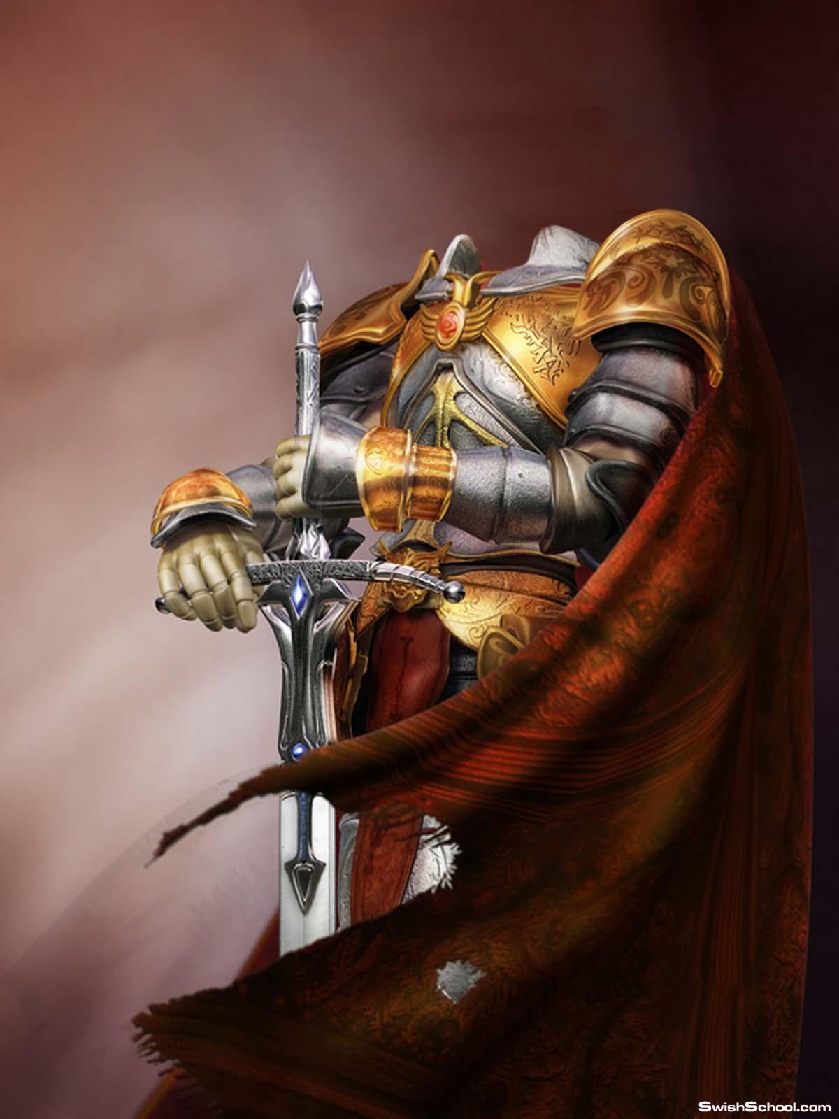 قالب محارب فوق الرائع من رافعى الخاص